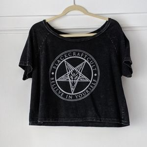 Dolls Kill Black Craft Cult Be Yourself Crop Top
